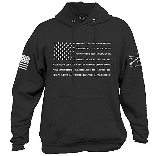 Grunt Style Veteran Men's Hoodie, Color Black, Size XX-Large