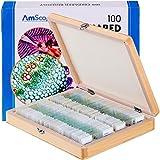 AmScope PS100E 100 Diapositivas de microscopio Preparado para la biología en casa - Set E