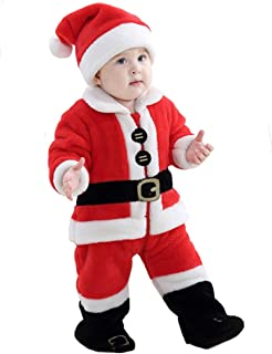 Weihnachten Nikolaus Elf Kostüm Neugeborenen Baby Mädchen Jungen Tops Hosen Set