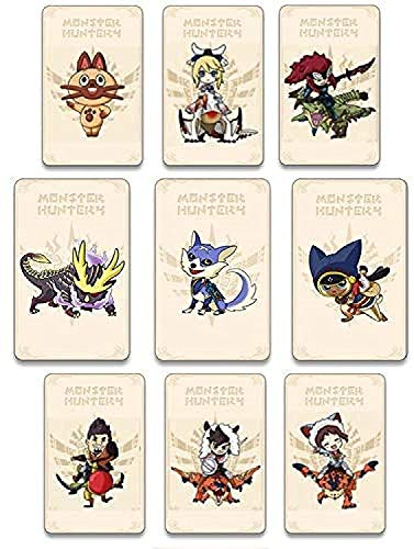 Akeicwel Mini Tarjeta de Etiqueta Monster Hunter Rise NFC de 9 Piezas, Incluye: Palamute, Palico, Magnamalo, Compatible con Switch   Switch Lite   New 3DS, Tarjeta de terceros