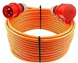 netbote24® CEE Starkstromkabel Verlängerungskabel 16A 400V Pur-Leitung mit Phasenwender H07BQ-F 5g1,5 Außen 30m