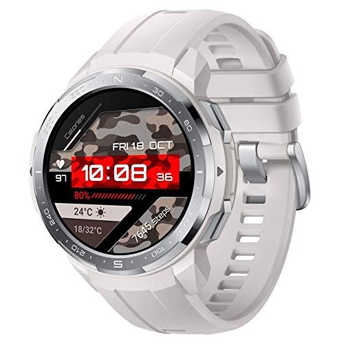 """HONOR Watch GS Pro Reloj Inteligente 48mm para Hombres Llamadas Bluetooth (Responder, Rechazar, Colgar una Llamada) Monitor SpO2, 1.39"""" AMOLED, Blanco"""