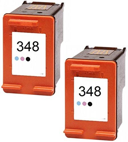 Printing Pleasure 2 Foto-Tintenpatronen für HP PSC 1610 OfficeJet 6310 J6410 H470 DeskJet 460 5420 6840 6940 9800 D4260 Photosmart C4480 C4580 2610 7850 8050 8150 8750 | kompatibel zu HP 348 (C9369EE)