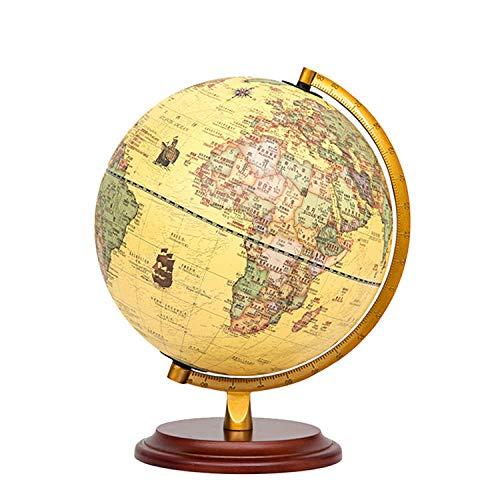 Jopjdpdsf Globus Beleuchtet,25Cm Dreidimensionale Ebene Antiken Globus Hoch 32Cm Große Retro-Tischbeleuchtung Lehre Dekoration 10 Zoll