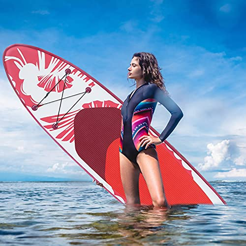 YWH Pink SUP Inflatable Paddle Board - 10.6' Lightweight Stand Up Paddleboard for Youth Adult Beginner Kids Paddleboards with...