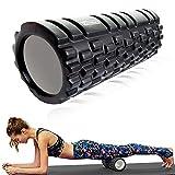 Dewanxin Foam Roller, Rullo in Schiuma Massaggiatore Eccellente per l'Auto Massaggio, Esercizio Muscle Roller Rullo in Schiuma per Massaggio Muscolare Trigger Point Grid per Yoga