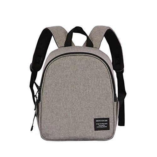 Dukars Insulated Lunch Bag Box Organizer School Cooler Bag Backpack for Women,Kids (Grey)