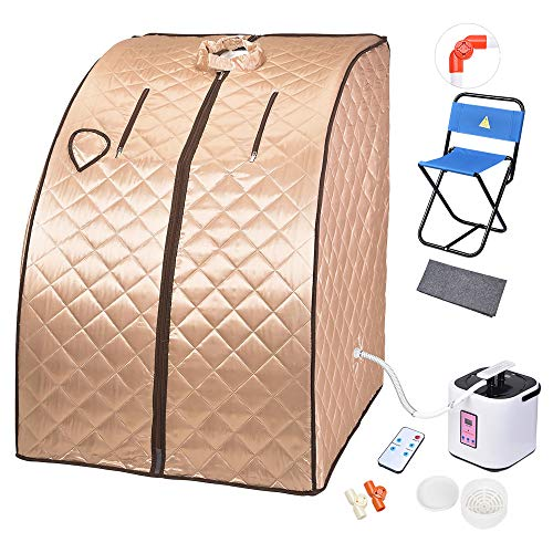 AW 2L Portable Steam Sauna Spa Full Body Sauna Tent Slim Reduce Weight Detox Therapy Home with Chair...