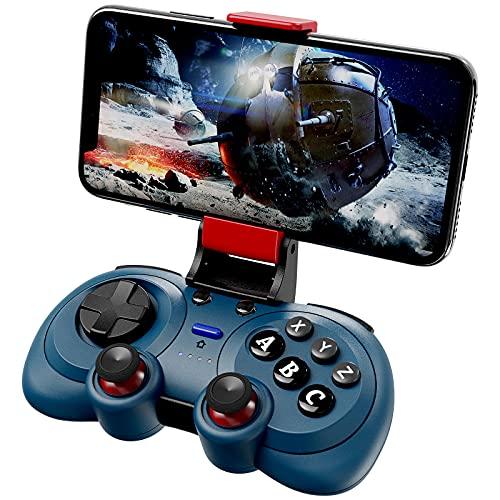 Mobile Game Controller, BestOff Wireless Pro Handy Controller für Android, 6 Gyro Achse und Gamepad Joysticks, Wiederaufladbare Batterie Remote Controller Kompatibel mit Android Smartphone, Blau