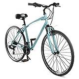 Retrospec Critical Cycles Barron Hybrid Bike 21 Speed, Graphite and Orange, 20in (L)