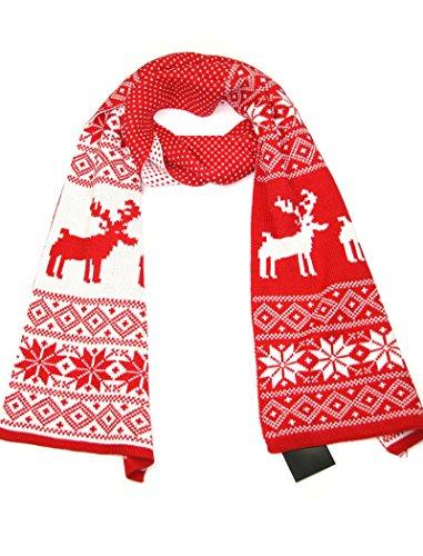 LOVARZI Mujeres navidad bufanda roja y...