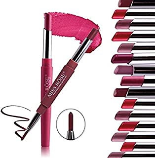 Innovative 8 PC duo ends long lasting matte nude lipstick + one end lipstick Liner (8 PC Set 3 (1-8))