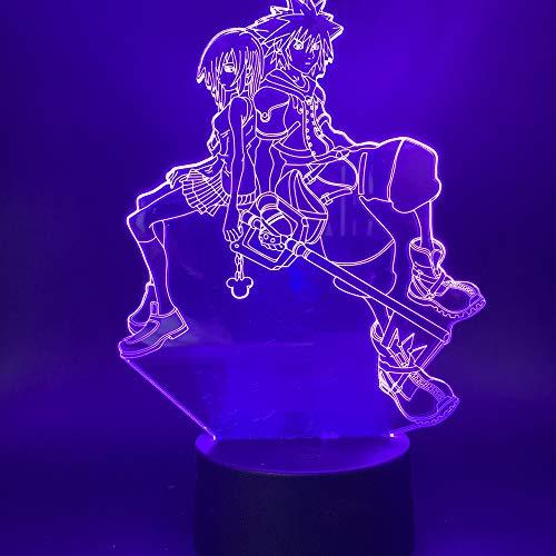 Mapa corazón Reino luz Nocturna decoración Dormitorio