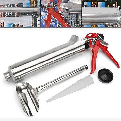 Kit de Pistola de Pulverizadora de Mortero, Pistola Pulverizadora de Cemento para Rellenar Huecos, Aplicador Mortero de Acero Inoxidable