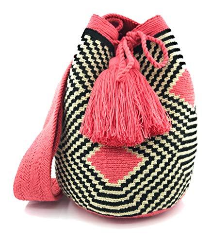 Kolumbianische Taschen (Wayuu) aus Labyrinth, Wayuu-Rucksack für Frauen und Männer.