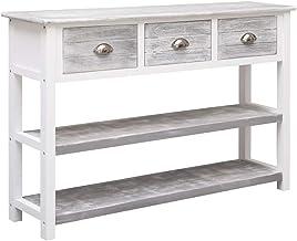 vidaXL Solid Paulownia and Poplar Wood Sideboard Side Cabinet End Console Table Bedroom Hallway Living Room Furniture Anti...