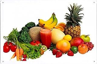蔬菜水果果汁 70497 锡海报食物和饮料装饰标志