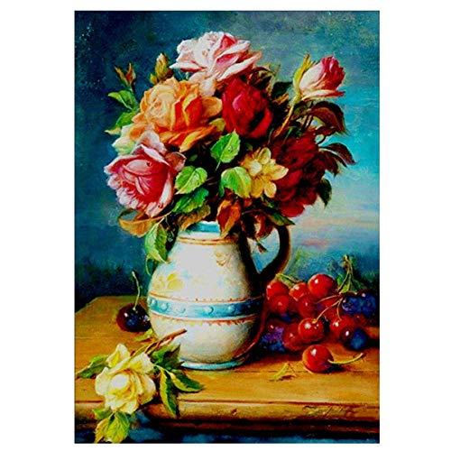 IUWAN 1000 Stück Puzzle für Erwachsene Vase Blumen Kinder Papier Puzzle Lernspiel Spielzeug Lernprogramm 38 * 26cm