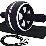 Bssay Ab Roller, Home Abdominal Exercise Equipment Core Workout Machine Wider Ab Roller Wheel with...
