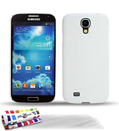 MUZZANO Original Pika Premium, con 3 pellicole di Protezione per Lo Schermo, Ultra Trasparenti, per Samsung Galaxy S4 I9500, Colore: Bianco
