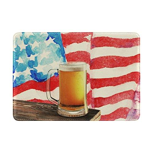 MyDaily USA Amerika-Flagge Bier-Leder-Passhülle