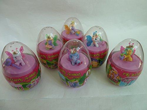 6 verschiedene (alle) Filly Butterfly Spielsets (im Mega-Ei): 2x fröhliche Teeparty, 2x romantischer Pavillon, 2x bezauberndes Gartenhaus