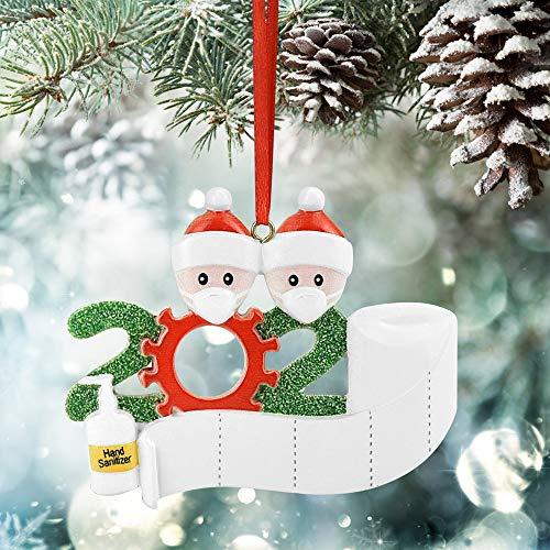EMAGEREN Adorno de Árbol de Navidad 2020, 1 Pieza Ornamento Navidad 2020 Adorno de Familia Sobrevivido Decoración...