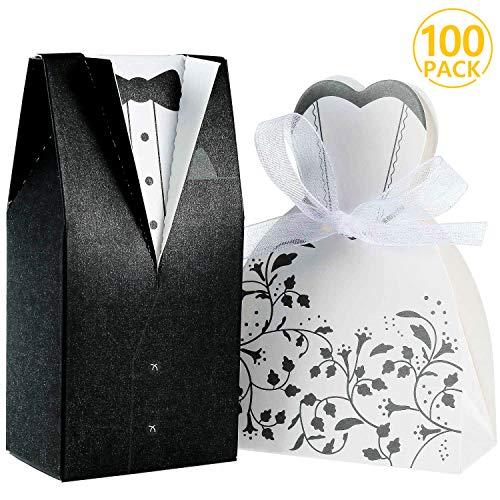 Foonii® 100pcs Cajas de Caramelos Cajas de Regalo (50pcs No