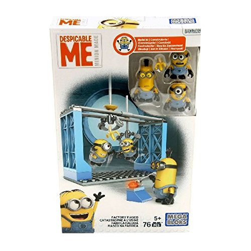 Mega Bloks - Minion'S Figures Set of 3 with Accessories - Factory Fiasco (Dkx76)