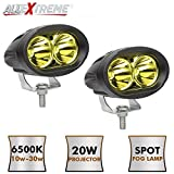 """AllExtreme 4"""" 20W 3000K Led Driving Light Work Lamp Auxiliary Flood Beam Bulb"""