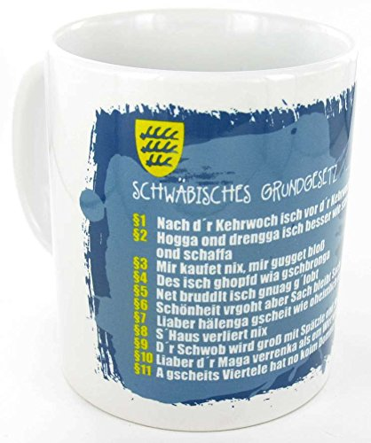 die stadtmeister Keramiktasse weiß Schwäbisches Grundgesetz