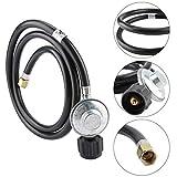 DEWIN Regulador Gas Propano - Regulador y Manguera Gas Propano Adaptador regulador de gas propano válvula de baja presión con manguera de 1,5 m para estufa de horno de barbacoa LP/LPG