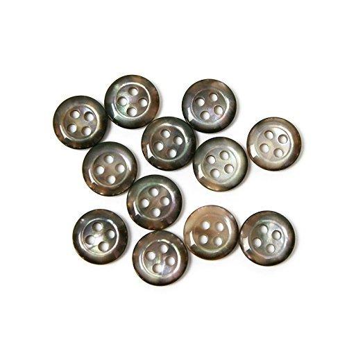 Japanese string button Couleur Chemise Bouton marbre Couleur Brun Diamètre 10 mm 12 pièces