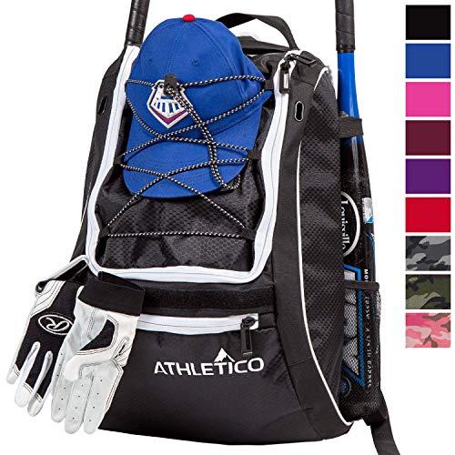 Athletico Baseball Bat Bag - Backpack for Baseball, T-Ball & Softball Equipment & Gear for Youth and...