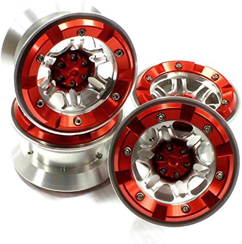 a precios asequibles INTEGY RC Model Hop-ups C25092rojo C25092rojo C25092rojo High Mass 2.2 Talla Alloy D6 Spoke Beadlock Wheel (4) for Scale Off-Road Crawler  mejor calidad