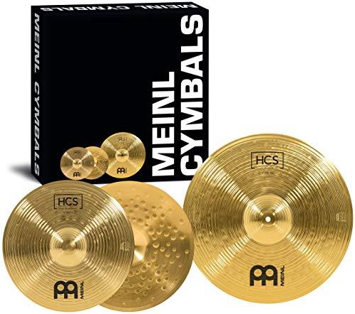 Meinl Cymbals HCS Basic Becken Set Box Pack mit 14 Zoll Hihats und 18 Zoll Crash-Ride Becken für Schlagzeug – Messing, traditionelles Finish (HCS1418)