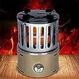 BKWJ Mini Calentador de propano de sobremesa, Calentador de Gas para Exteriores con protección contra Llamas, Estufas de calefacción para Acampar, Calentador de cerámica para Interiores,Amarillo