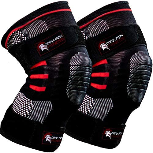 Weightlifting Knee Sleeves for Crossfit Powerlifting and Weight Training 1 Pair of Compression product image