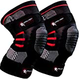 Weightlifting Knee Sleeves for Crossfit Powerlifting and Weight Training - 1 Pair of Compr...