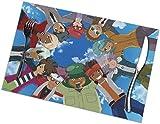 jhgfd7523 Ina-zuma Ele-ven - Juego de 6 manteles individuales para mesa de comedor, resistentes a las manchas, lavable, resistente al calor, antideslizante, decoración