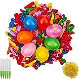 BESTZY Magic Water Balloons,Globos de Agua,Bombas de Agua,Incluye 1000 Globos,1000 Bandas de Goma y 5 aplicadores de Juguete
