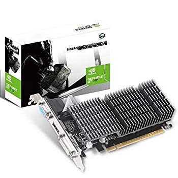MAXSUN GEFORCE GT 710 2GB Video Graphics Card GPU Support DirectX 12 OpenGl 4.5 Low Profile Low Consumption VGA DVI-D HDMI HDCP Silent Passive Fanless Cooling System