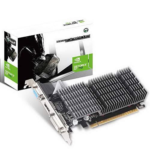 MAXSUN NVIDIA GEFORCE GT 710 2GB Scheda grafica Video GPU,Low Profile per HTPC Compatti e Build Low Profile Passive, Incluso Bracket Aggiuntivo I/O