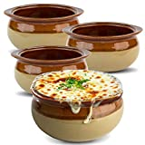 Stock Your Home Mini French Onion Soup Crocks (4 Count) - 10 Ounce Oven Safe French Onion Soup Bowls...