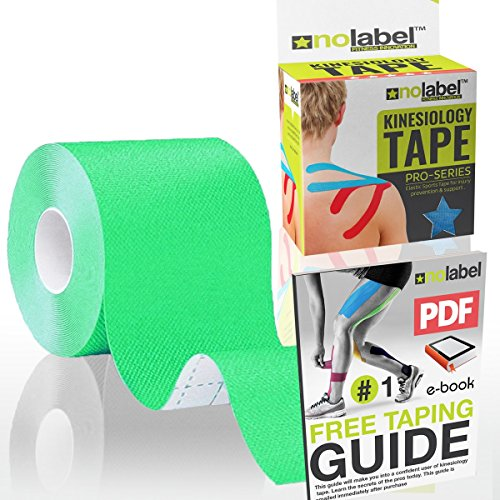 Green Kinesiology Tape Uncut Roll - 5m Sports Tape Strapping - Muscle Tape Support - Physio Tape - Kinetic Tape - Running Tape
