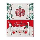JIAX Tovagliette Natalizie Cotone Set di 2, Tovagliette Natalizie in Tela di Cotone per La Casa, La Decorazione della Tavola da Pranzo della Cucina di Natale (Color : B, Size : Set of 2)