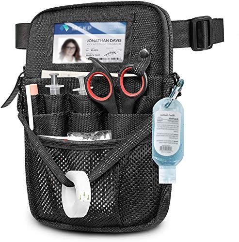 Riñonera con soporte para cinta, bolsa de enfermería con múltiples compartimentos, organizador de bolsillo para enfermeras, accesorios de enfermería, riñonera para enfermeras