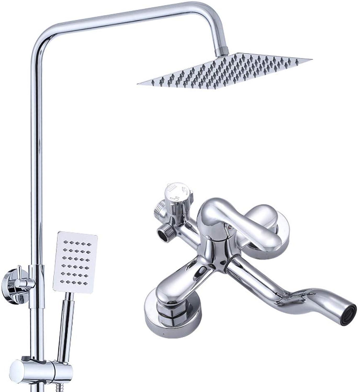 ZHANGY Handbrausehalter Kit Hotel Square Spa - Duschset - Kupfer Wasserhahn 360 ° Rotation