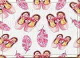 Art deco zapatos rosas plumas Alfombra de baño puerta antideslizante puerta de entrada del piso exterior interior puerta delantera alfombra de niños alfombra de baño 50x80cm accesorios de baño