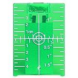 Tarjeta de placa de objetivo láser para piso Huepar TP01G - Magnetic con soporte para aplicaciones de haz de luz Verde Mejorando la visibilidad de líneas de láser Verde o puntos 1.3 veces